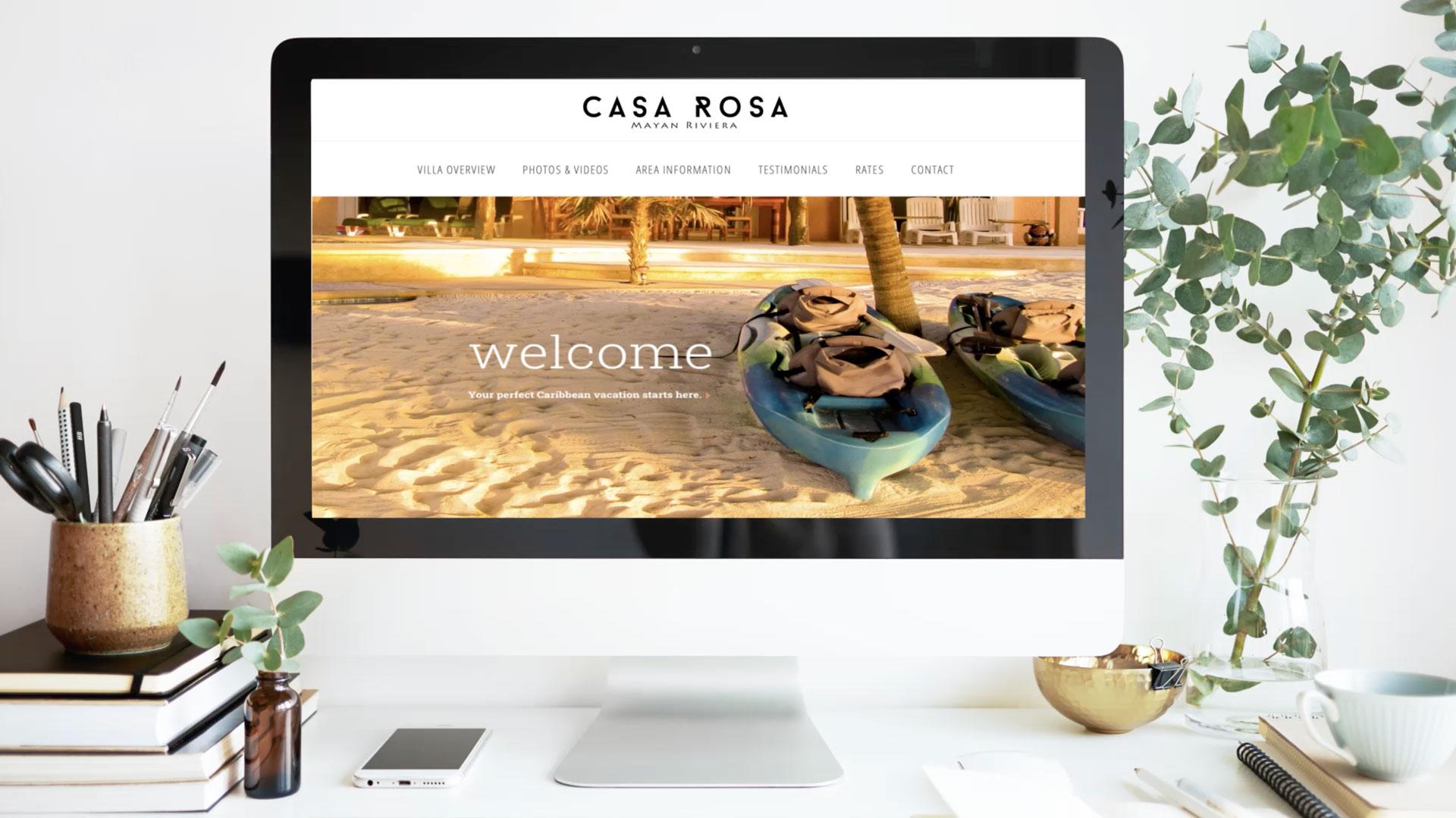 Casa Rosa Mayan Riviera Vacation Rental Website