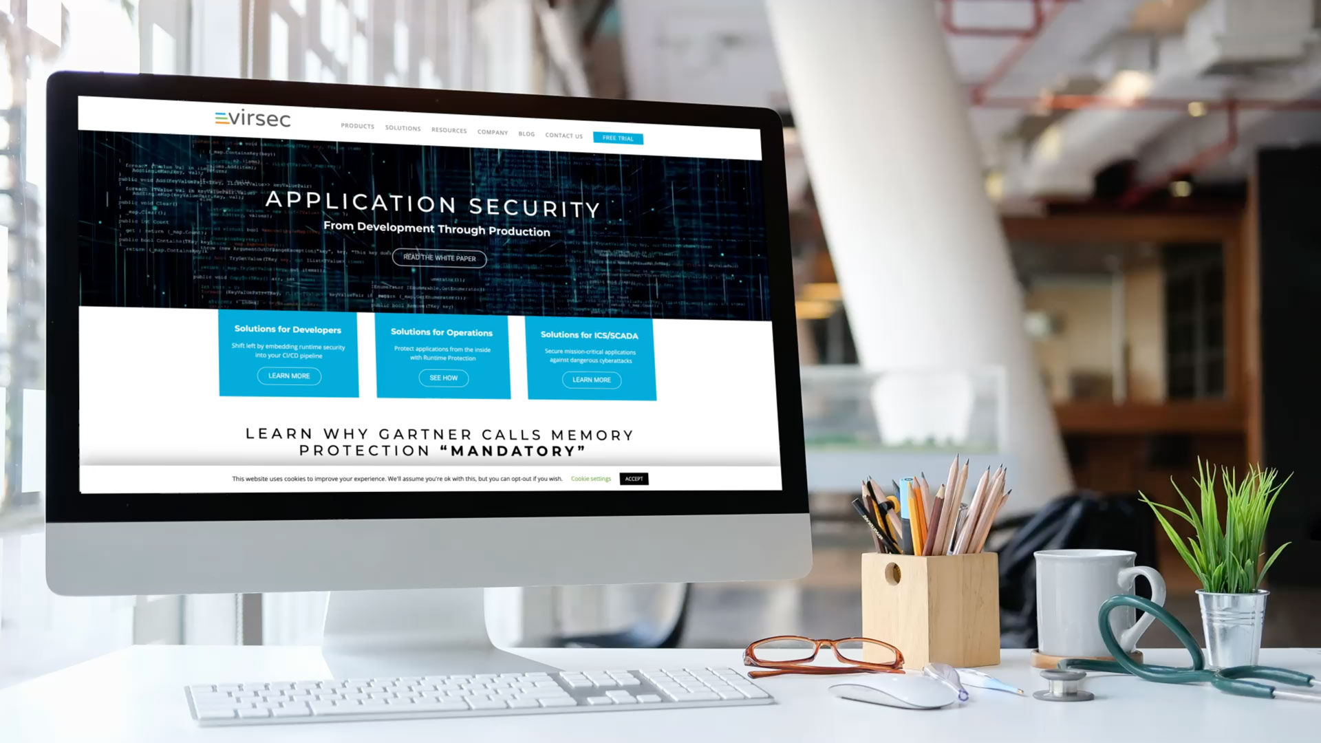 Virsec Website Design